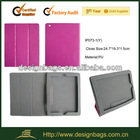 3 folded nice purple lady color 10.1 inch tablet pc case