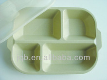 New Type square melamine fast snack Tray with PP cover