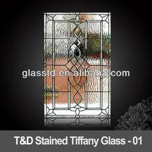 tiffany glass in the door