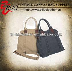 Fashion durable Canvas long shoulder hand Bags classic Ladies handbags
