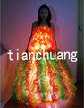 أجمل فستان طويل الصمام الخفيفة/ led هالوين الطرف ازياء