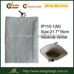 nice grey color velvet laptop sleeve case