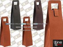 Leather single wine bottle holder tote wholesale