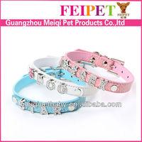 Wholesale dog collar with letter rhinestone slide