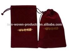 2014 Cheapest hotel laundry velvet Bag
