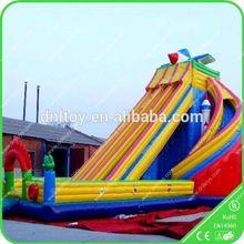 pvc tarpaulin slide,cheap commercial giant inflatable toboggan slide / inflatable dry slide