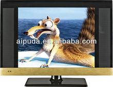 15 inch LCD TV/television SKD/CBU/12 Volt DC ATV DTV/USB Suport video/VGA/YPbPr/DVB-T/Cheap Chinese tv sets/flat tv