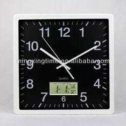 new design metal white glass wall clock