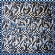 2014 Hot Sell Polyester Plain Dyed Zebra Design Velboa For Textiles VB40