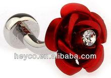 Heyco silver square round black white brass wedding cufflinks findings