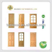 exterior prehung mahogany solid wooden door TWED-23