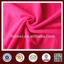 Polyester/Cotton slub yarn single jersey knit fabric