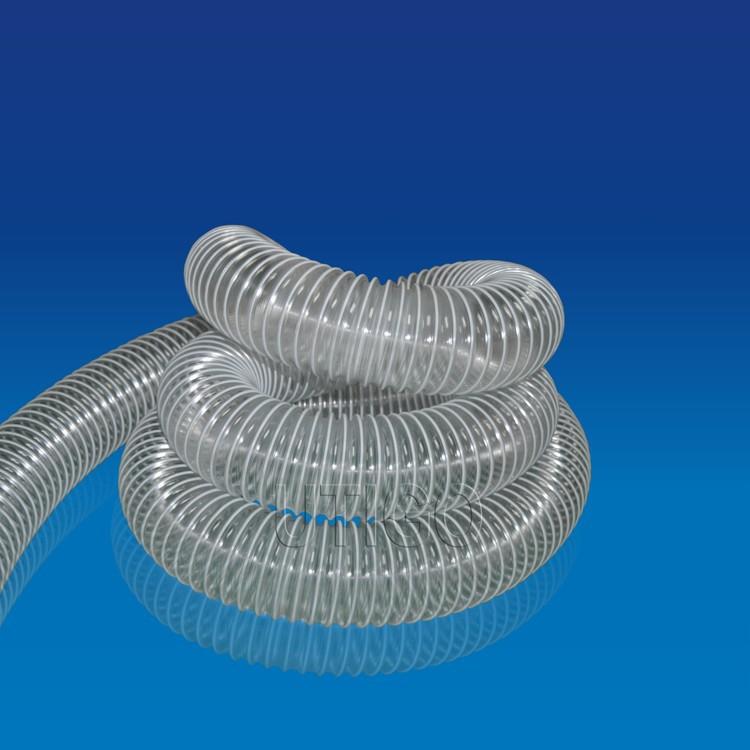 12 pulgadas espiral de pvc reforzado flexible de la manguera de ventilación