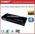1x4 hdmi splitter modelo 3d 4kx2k hdmi amplificador de distribución