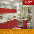 Foshan lecong wholesale red kitchen furniture