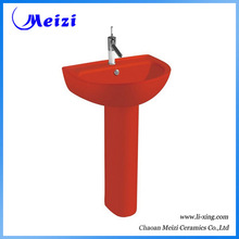 red pedestal sink promotion