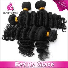 "China wholesale 18"" 5A top grade 100% unprocessed Brazilian virgin human hair / Brazilian hair extension"