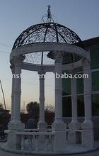 White marble patio canopy gazebo