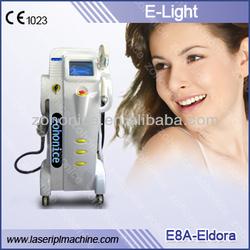 E8B-Eldora 4in1 esthetic ipl rf nd yag laser hair removal machine