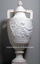 Carved stone decorative vase