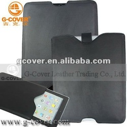 New Design leather sleeve for ipad 3, for new ipad leather sleeve
