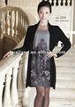 Madura de las señoras vestido de suéter/anti- pilling de cachemira tejido de punto