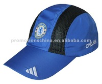 embroidery blue custom dry fit running cap