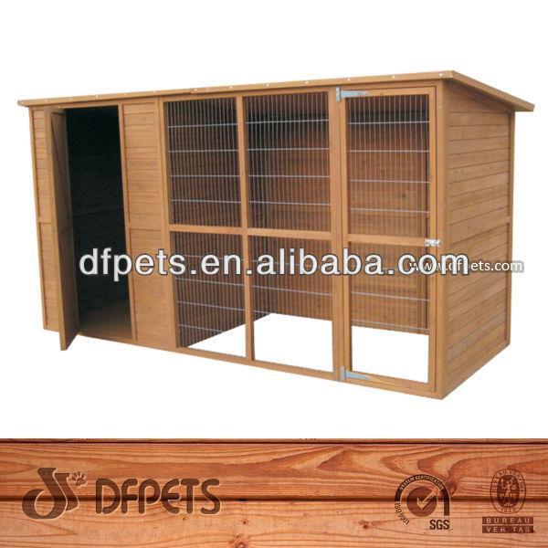بيت الكلب الكلب الخشبي الفاخرة مع تشغيل dfd012 fsc