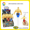 POWERFUL SPIN WWE SUPER STAR WRESTLER TOY WITH CANDY