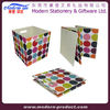 Decorative fabric foldable storage box