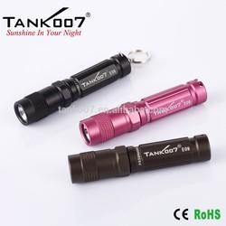 Waterproof mini led flashlight torch mini led flashlight keychain TANK007 E09