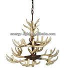 2014 UL Modern dongguan manufacture antler deer polyresin christmas chandelier ceiling lamp