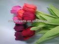 atacado toque real tulipa artificial toque natural vermelho de seda decoração flor