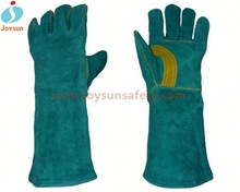 cow split leather welding gloves reinforced high impact protective gloves