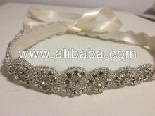 Wedding Bridal Beaded Sash Crystal Belt Beaded Bridal Sash,Bridesmaids belt,Wedding Gown Belt