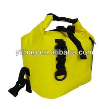 2015 yellow fashion outdoor waterproof tarpaulin dry beach bag as a fishing bag