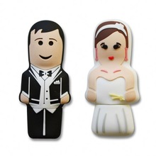 High quality free sample low price wholesale bride and groom usb flash drive