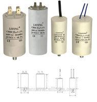 white plastic & aluminum shell LEFENG brand cbb60 cbb65 cbb61 cd60 series capacitor 5-120uf 250-500vac