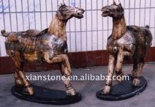 ox bone carvings horse