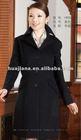 Elegant ladies long black Cashmere coat for winter