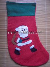 plush high quality santa stocking
