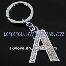 fashion metal letter a key ring