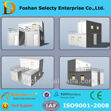 2015 Latest Low cost two story modern container house/movable steel container house for office