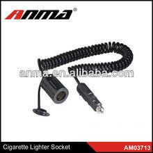 Hot sell travel smart electric car battery socket car cigarette lighter plug