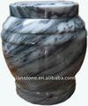 Cinza mármore cremação urna