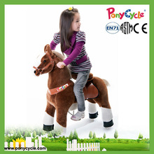 Pony cycle plush ride on toy horse on wheel for 2015 hot sale