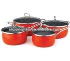 8 piece porcelain Enamel Cookware set