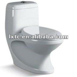 P-trap and S-trap ceramic washdown one piece toilet