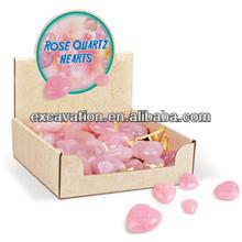 "Gemstone Heart"" Rose Quartz"""