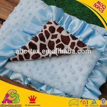 Fashion Design Animal Printed Mink Blanket Baby Receiving Blanket BB145